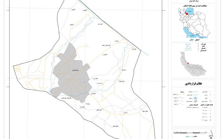 نقشه روستای گیل دولاب