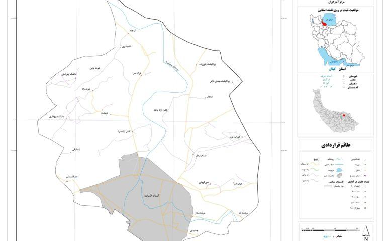 نقشه روستای گورکا