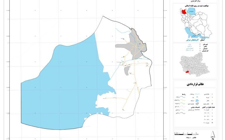 نقشه روستای بناجوی غربی