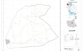 نقشه روستای بدوستان غربی