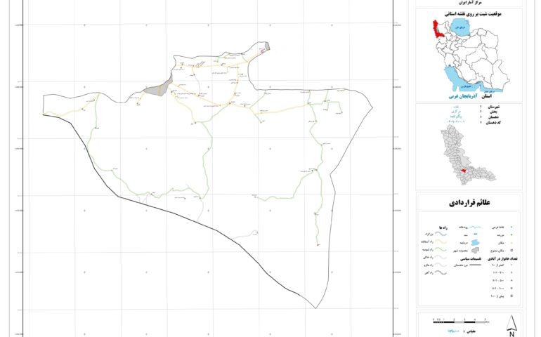 نقشه روستای بیگم قلعه
