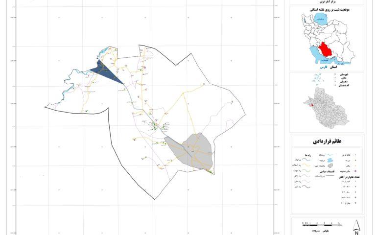 نقشه روستای دریس