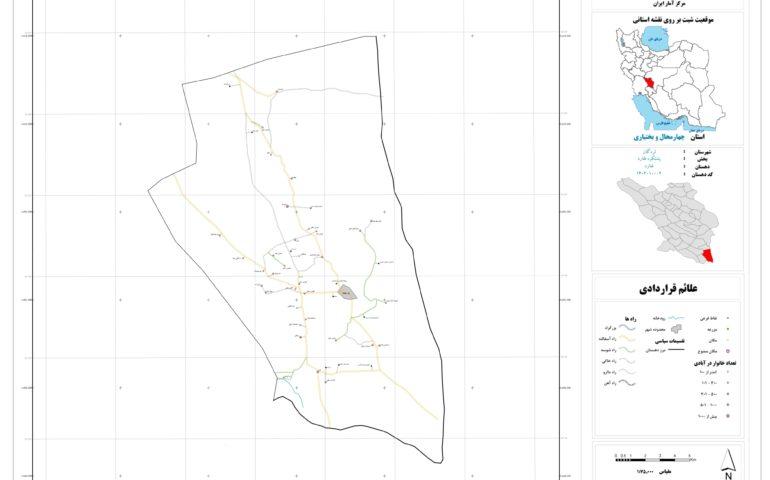 نقشه روستای فلارد