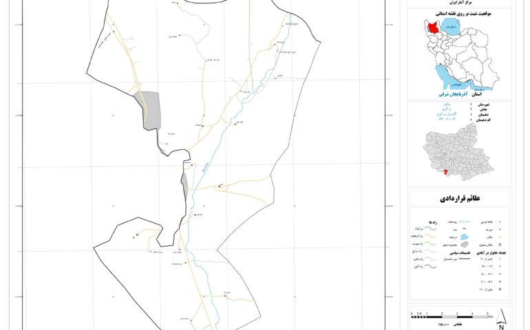 نقشه روستای گاودول مرکزی