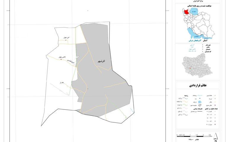 نقشه روستای قاضی جهان
