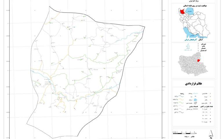 نقشه روستای قشلاق