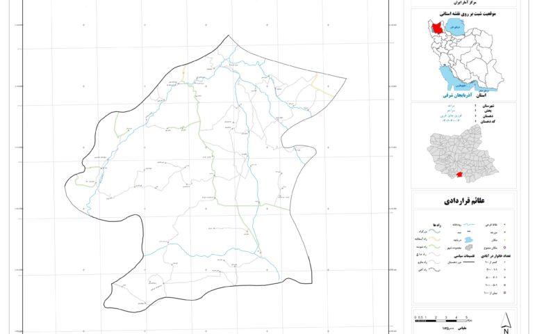 نقشه روستای قوری چای غربی