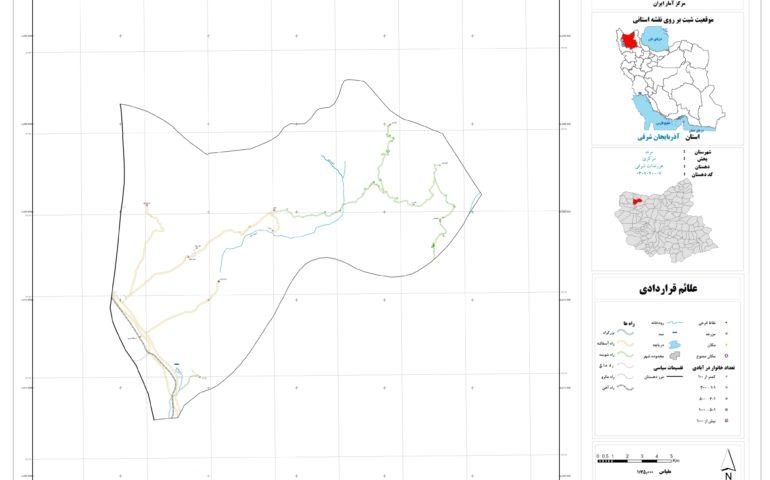 نقشه روستای هرزندات شرقی
