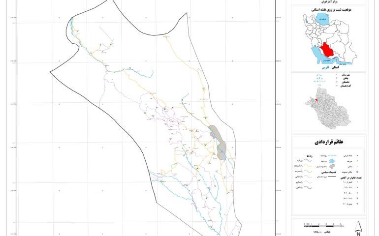 نقشه روستای خفری