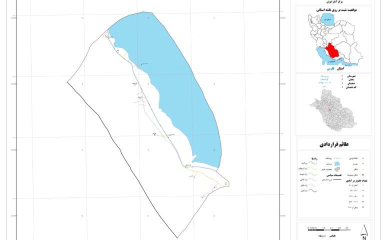 نقشه روستای مهارلو