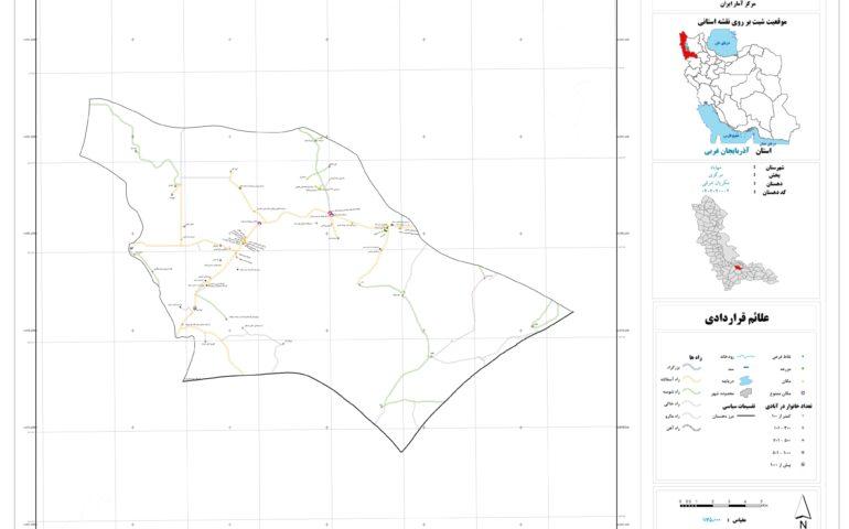 نقشه روستای مکریان شرقی