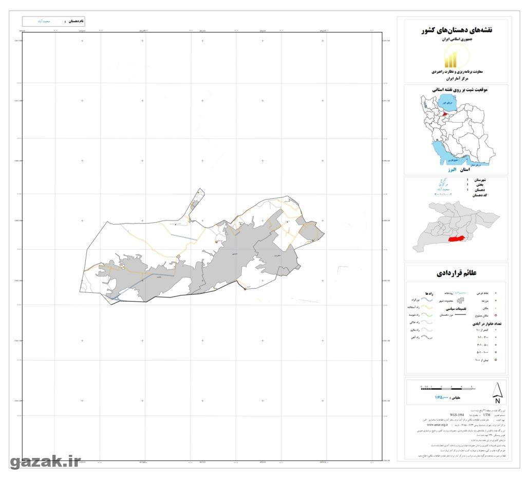نقشه محمد آباد
