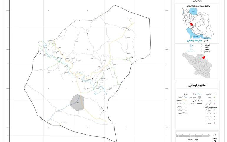 نقشه روستای سامان