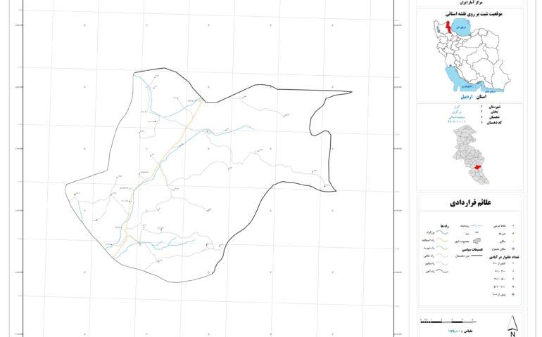نقشه روستای سنجبد شمالی