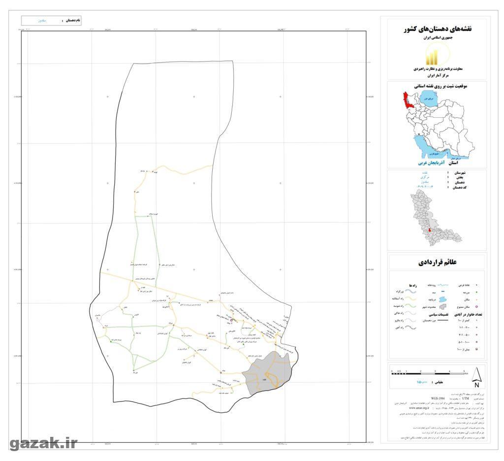 نقشه روستای سلدوز