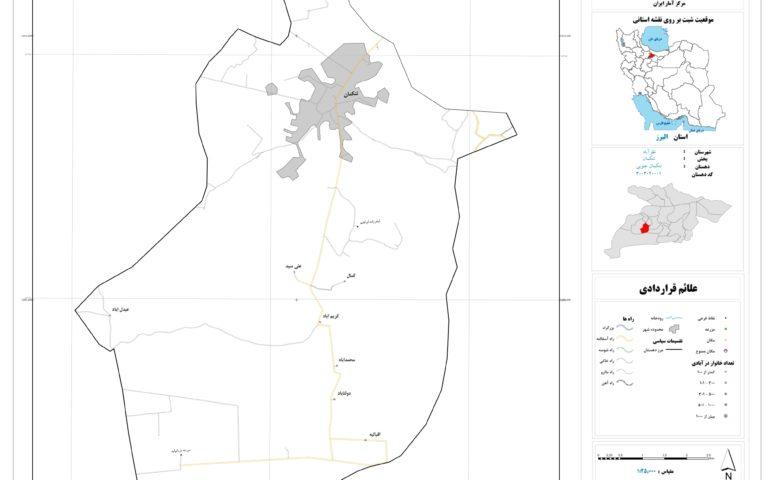 نقشه تنکمان جنوبی