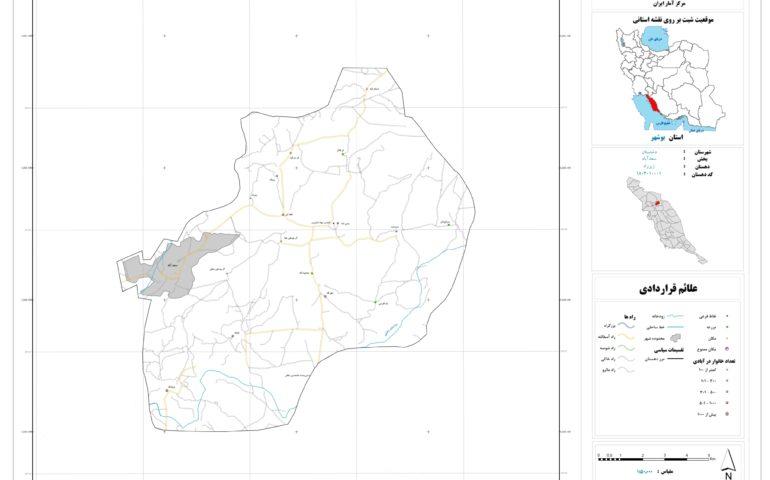 نقشه روستای زیرراه