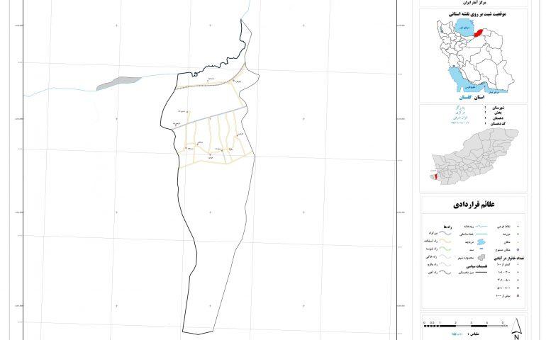 نقشه روستای انزان شرقی