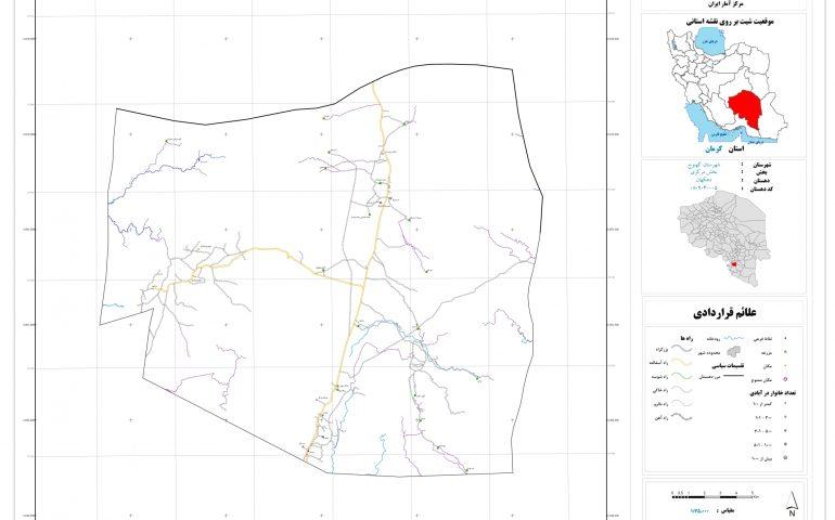 نقشه روستای دهکهان