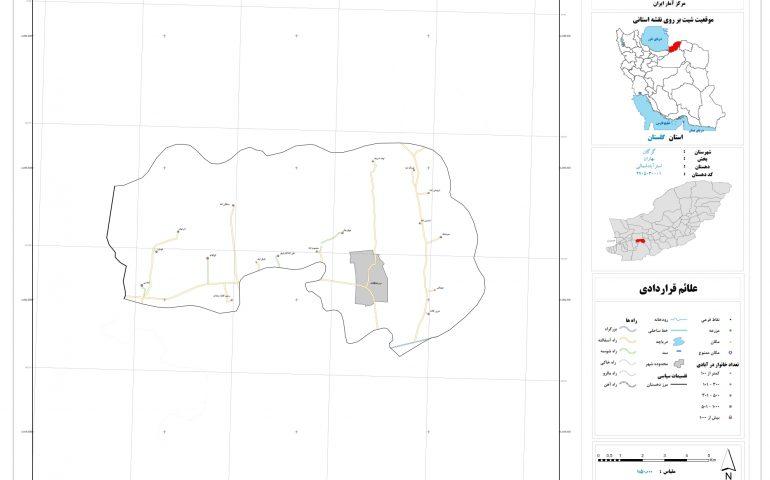 نقشه روستای استر آباد شمالی