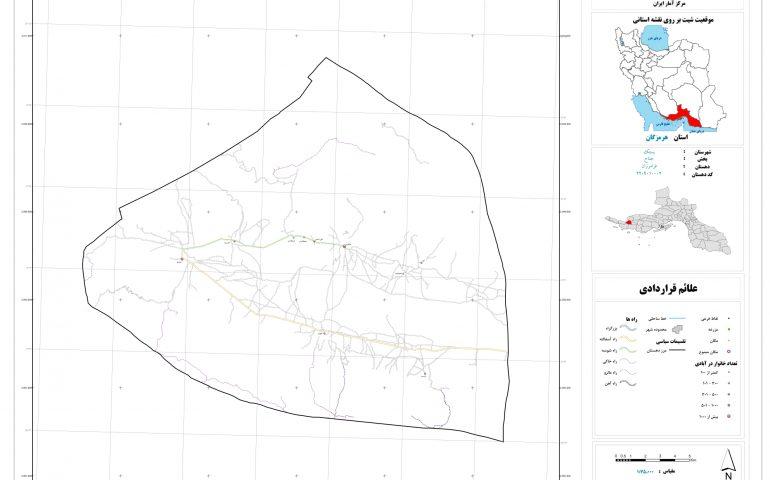 نقشه روستای فرامرزان