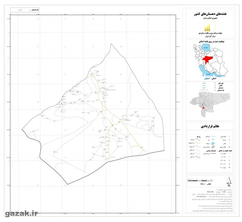 ghambovan 1024x936 - نقشه روستاهای شهرستان دهاقان