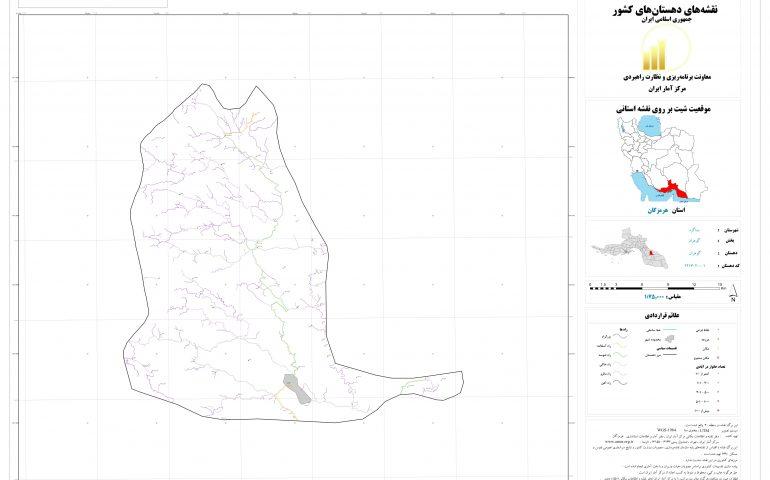 نقشه روستای گوهران