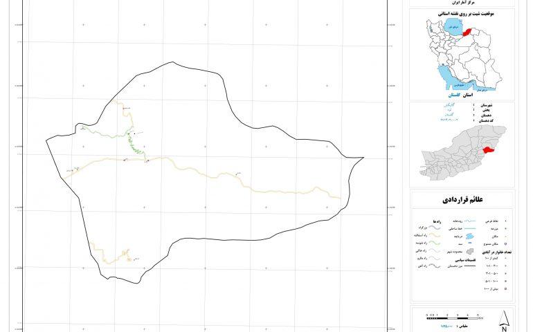 نقشه روستای گلستان