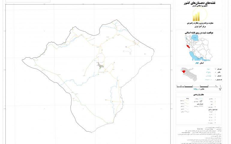 نقشه روستای هجداندشت