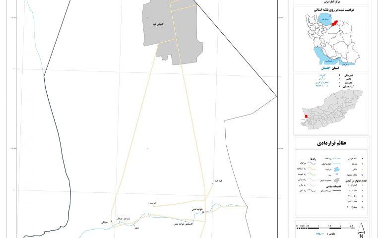 نقشه روستای جعفربای غربی