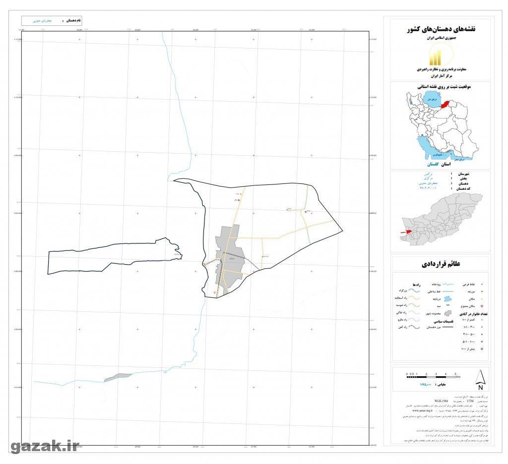 jafarby jonobi 1024x936 - نقشه روستاهای شهرستان ترکمن