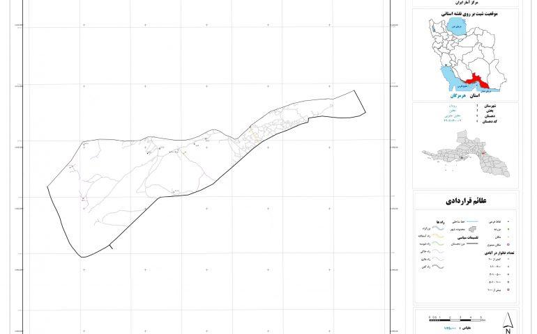 نقشه روستای جغین جنوبی