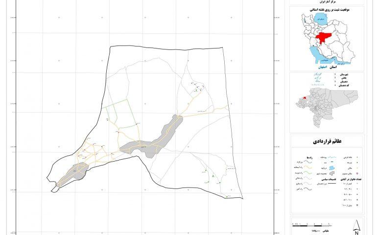 نقشه روستای جلگه
