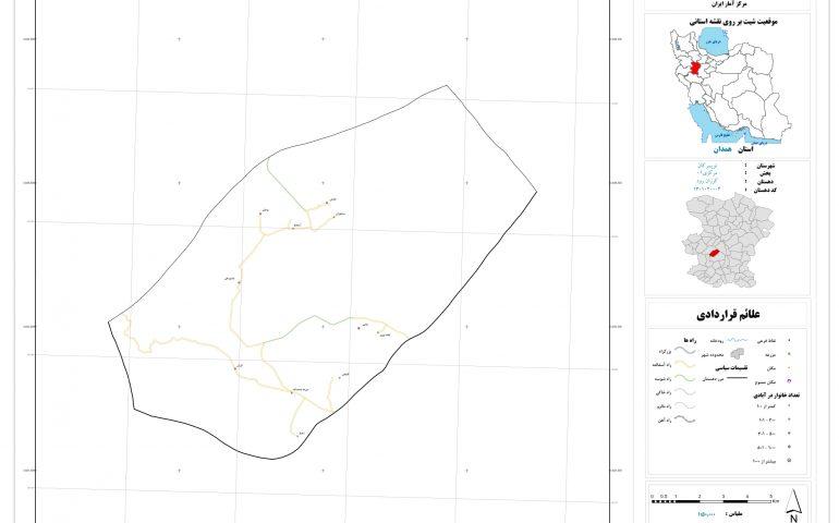 نقشه روستای کرزان رود