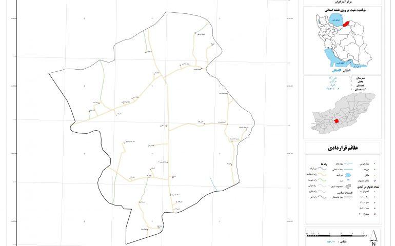 نقشه روستای کتول