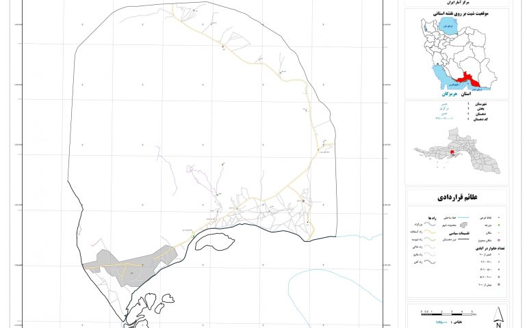نقشه روستای خمیر