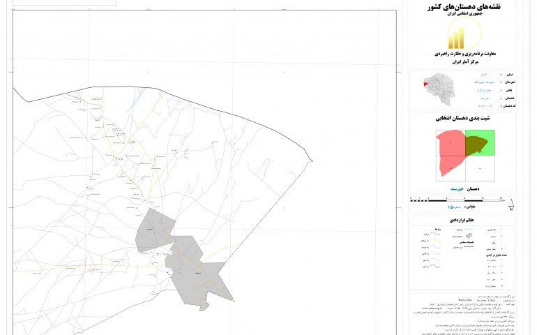 نقشه روستای خرسند