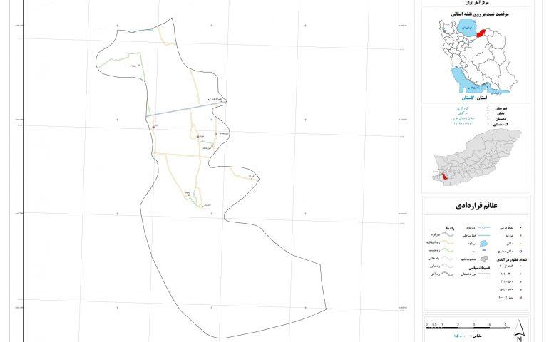 نقشه روستای سدن رستاق غربی
