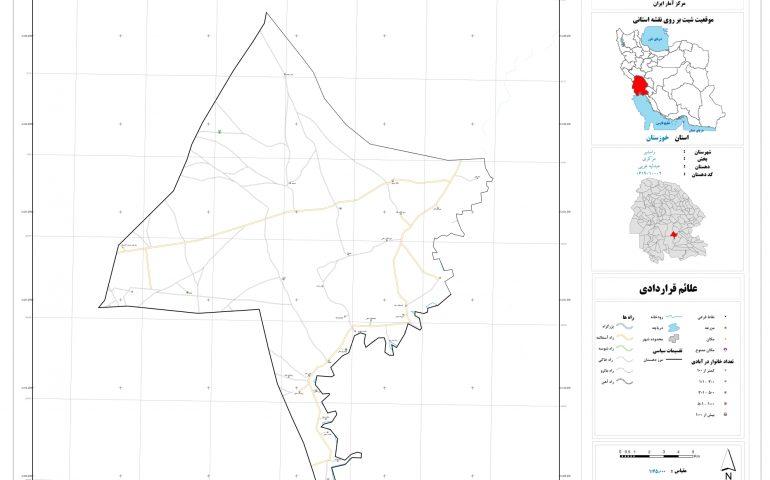 نقشه روستای عبدلیه غربی