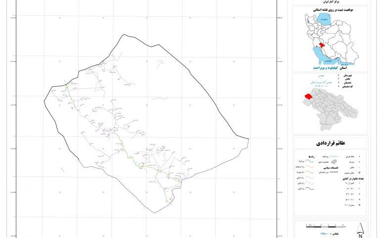 نقشه روستای بهمبئی گرمسیری شمالی