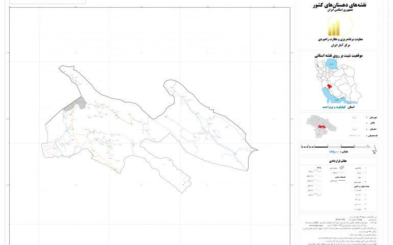 نقشه روستای چرام