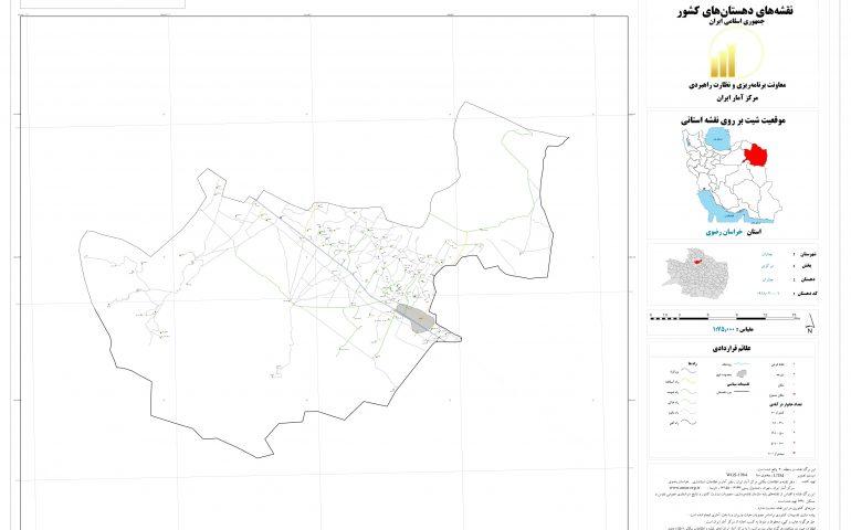 نقشه روستای چناران