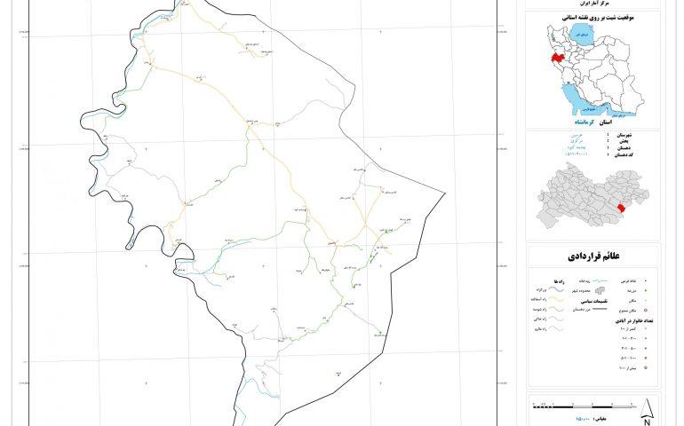 نقشه روستای چشمه کبود