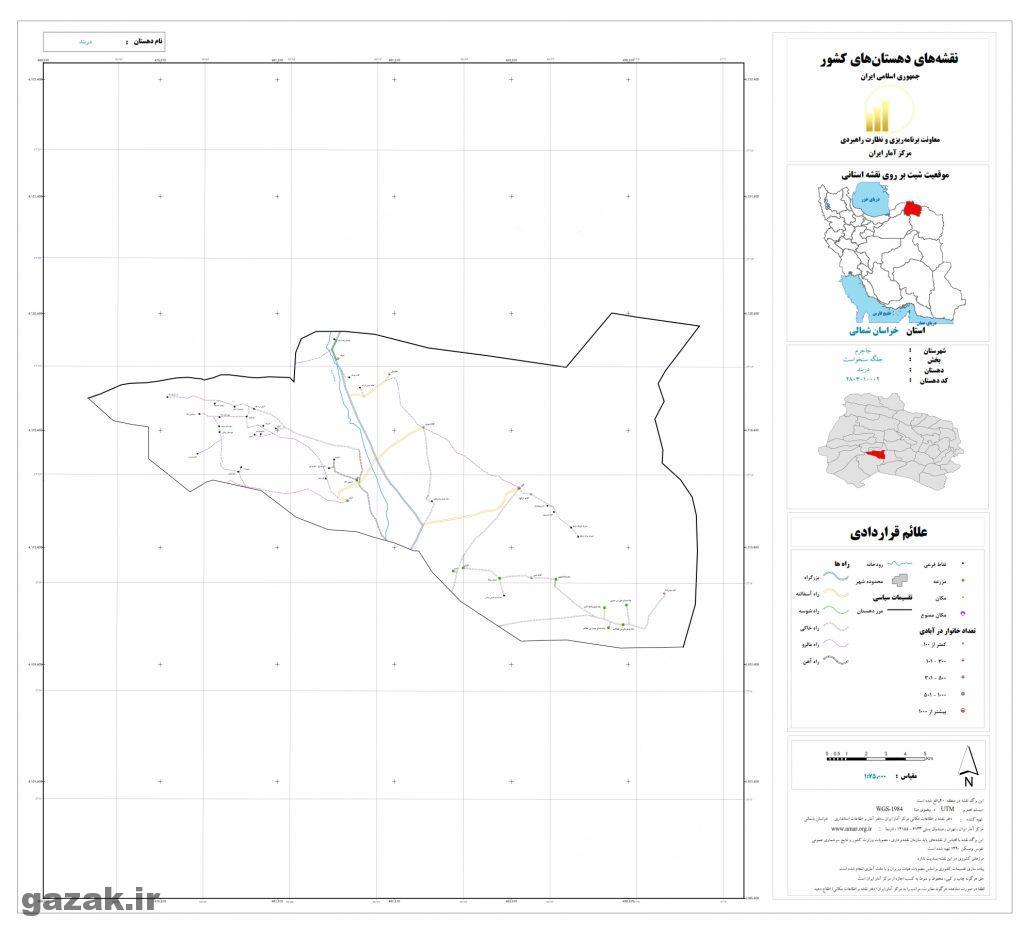 darband 1024x936 - نقشه روستاهای شهرستان جاجرم