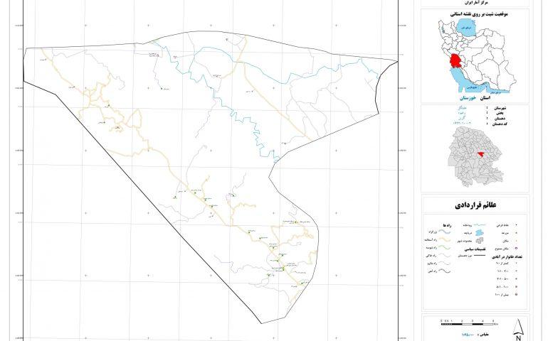 نقشه روستای گزین