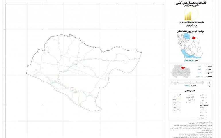 نقشه روستای گیفان