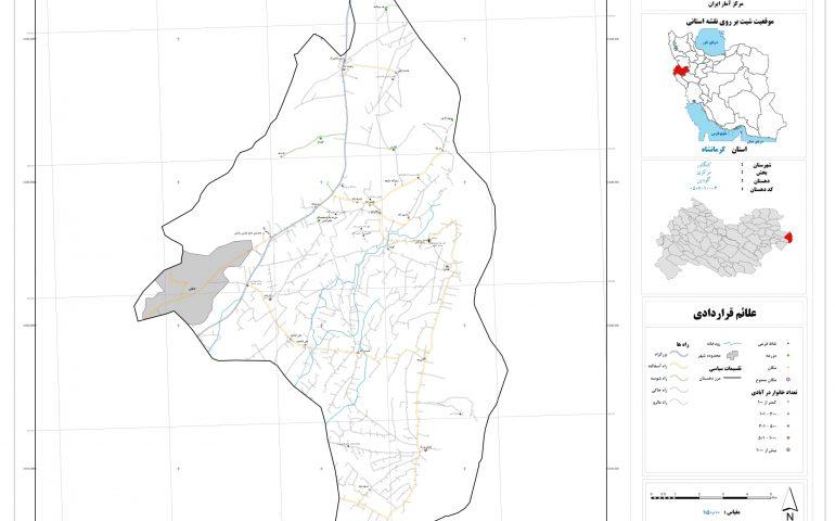 نقشه روستای گودین