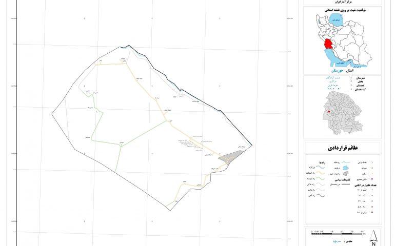 نقشه حومه غربی دشت آزادگان