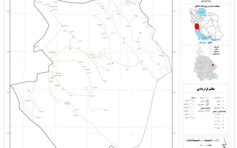 نقشه حومه شرقی ایذه