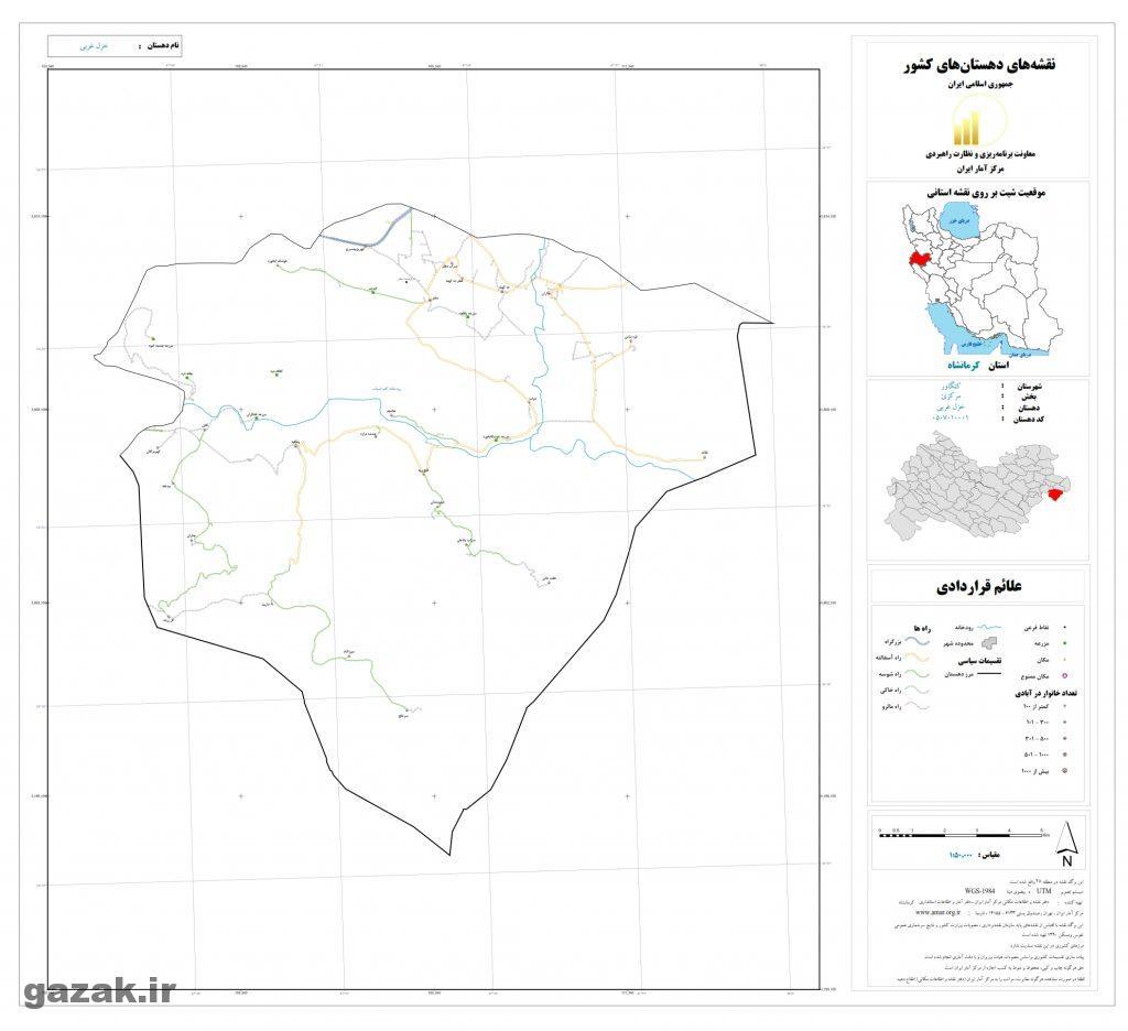 khazal gharbi 1024x936 - نقشه روستاهای شهرستان کنگاور